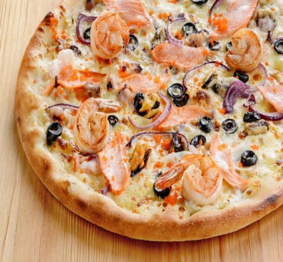 Пицца на тонком тесте 30 см
