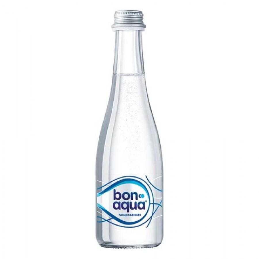 БонАква 0.33л (в стекле, газ)