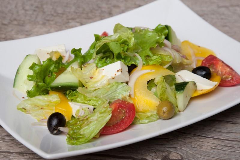 Греческий овощной  сбор  с сыром Фета