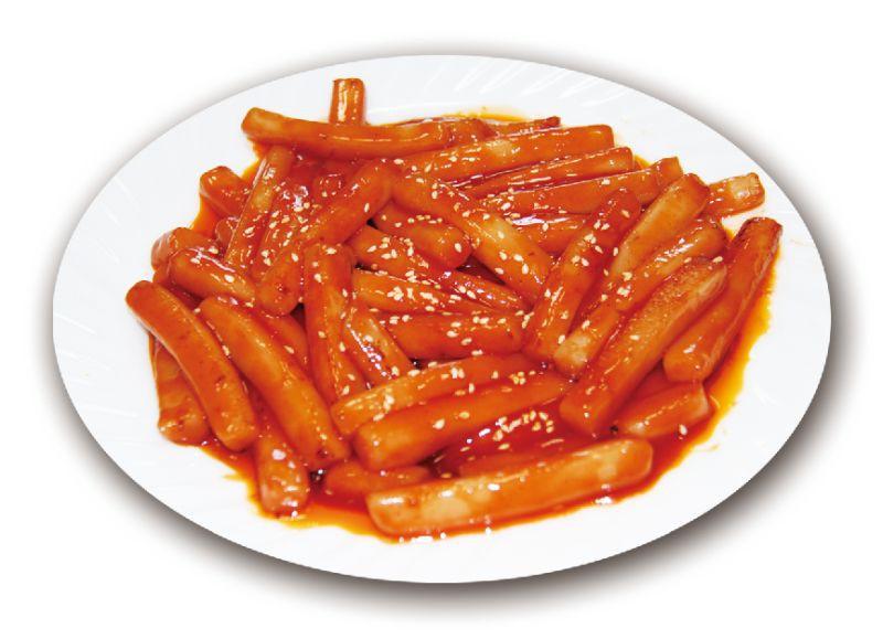 Рисовые палочки в остро-сладком соусе