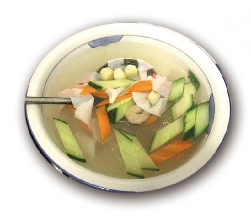 Суп коктейль из морепродуктов