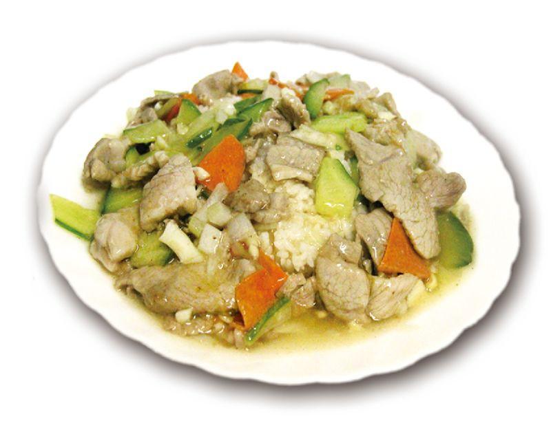 Рис жаренный со свининой