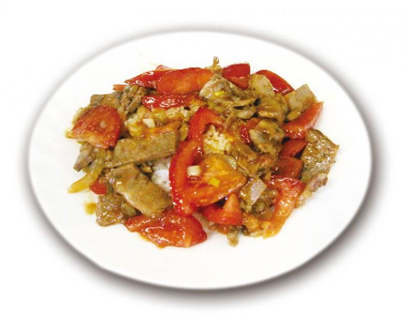 Рис с помидорами и говядиной