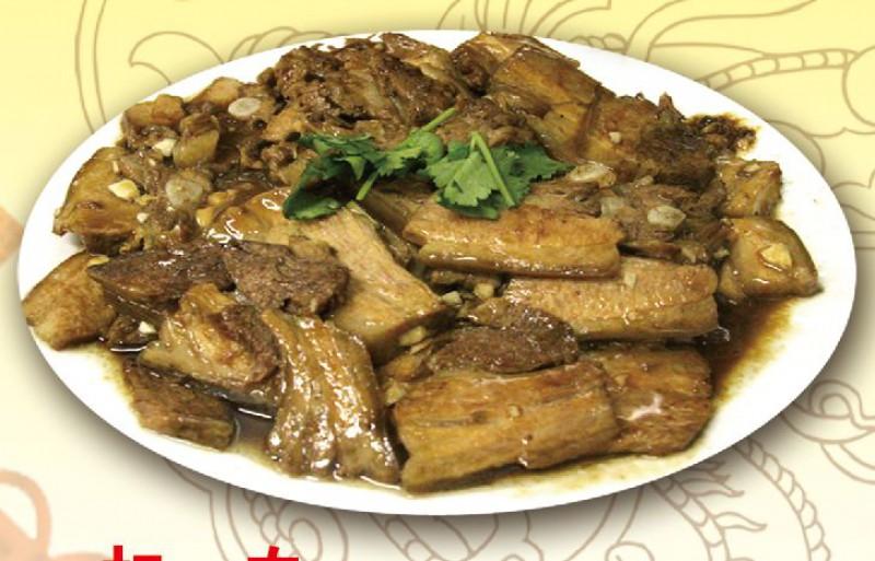 Бекон пластами на пару с китайским соусом
