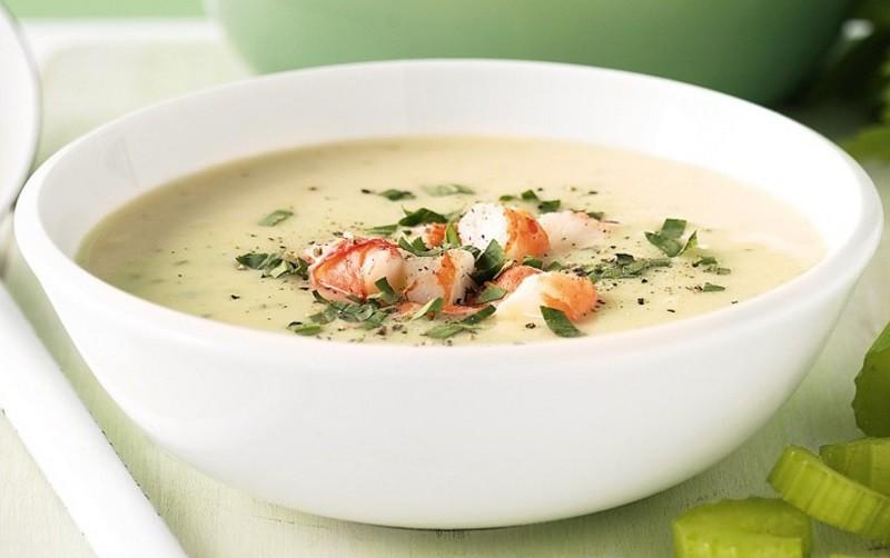 Суп-крем из морепродуктов