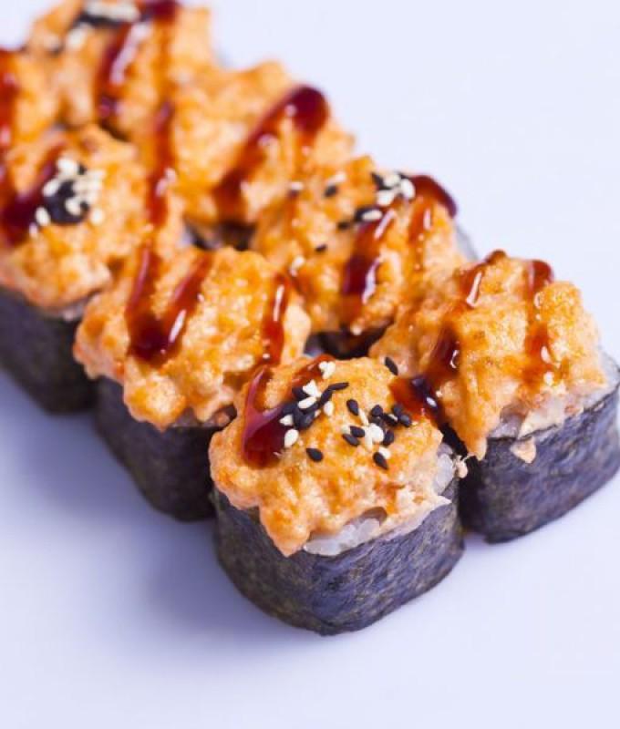 Запеченный с лососем