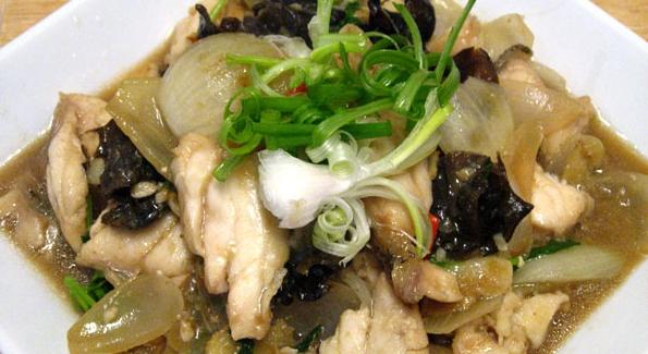 Грибы с морепродуктами