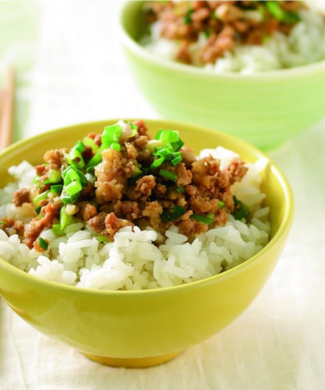Рис с мясом, луком и кинзой