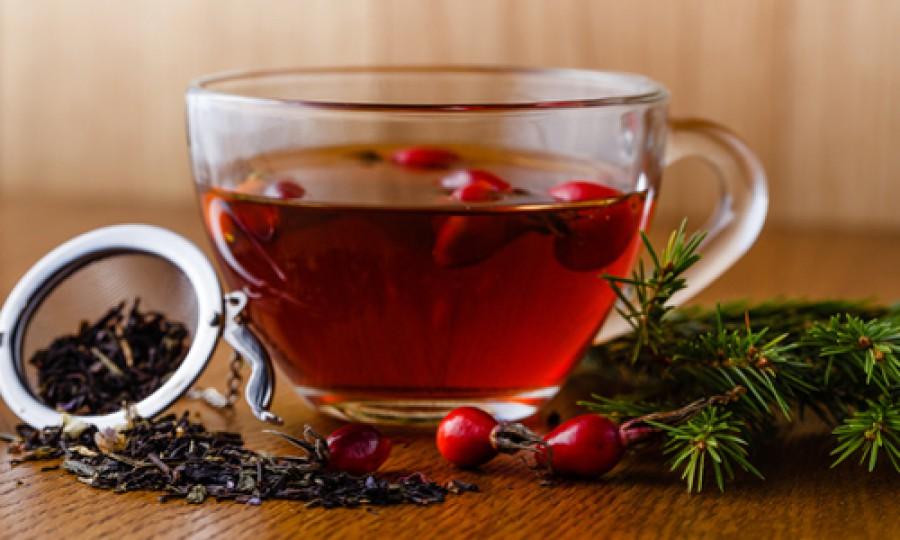 Чай с брусникой и медом